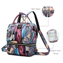 Diaper Backpack Multifunctional Mummy Baby Insulated Maternity-Travel Patpat Feather-Print