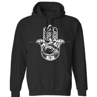 Hamsa Hand Kitsch Boho Festival Hindu India Krishna Yoga Peace Love Gift Mens Neutral Winter Hoodies Sweatshirts Free Shipping
