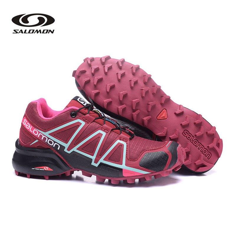 Outdoor Sneanker Salomon Speed Cross 4 Women Original Shoes Walking Running Shoes Tenis Salomon SpeedCross 4