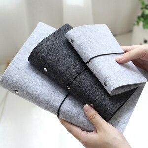 JIANWU Felt shell fabric note book loose leaf inner core A6, A7 notebook diary A5 plan binder office supplies ring binder