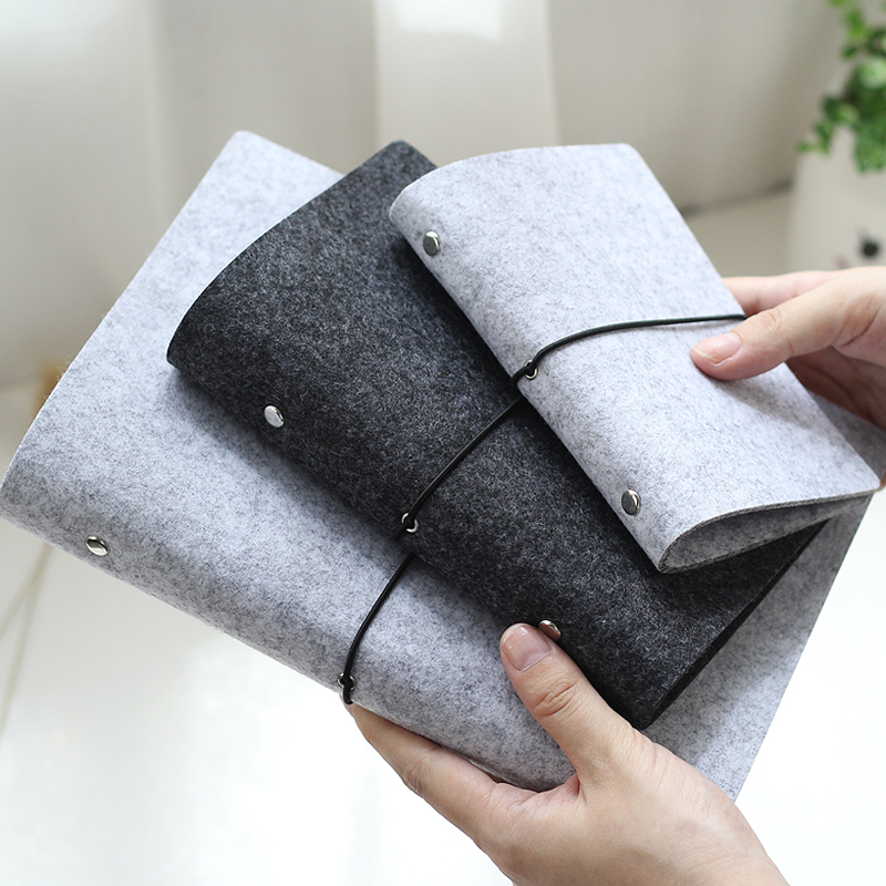 JIANWU Felt Shell  Fabric Note Book Loose Leaf Inner Core  A6, A7 Notebook Diary  A5 Plan Binder  Office Supplies  Ring Binder