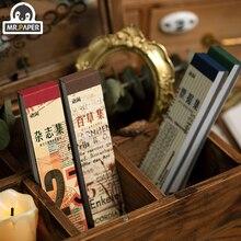 Г-н бумаги 100шт время в пути канцелярскими карточки Kraft фоне журнальной пуля скрапбукинг Материал: Бумага Escol ЛОМО карты