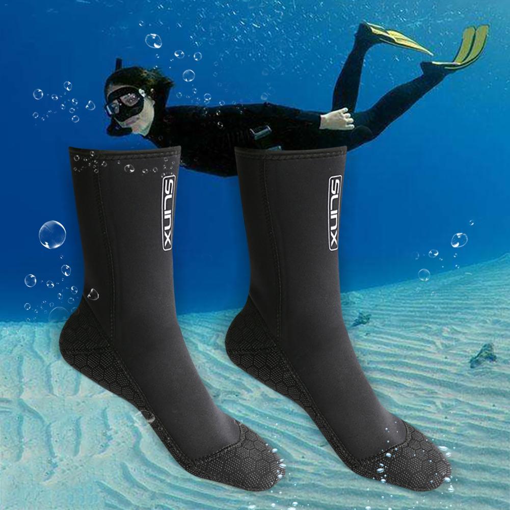 SLINX 3mm Swimming Boot Scuba Swimwear Wetsuit Neoprene Diving Socks Anti Scratches Warming Snorkeling Socks