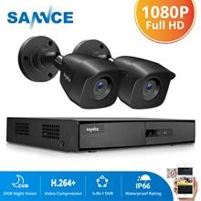 CAMERA SANNCE 4CH DVR Sistema CCTV 2PCS/4PCS 2MP IR Outdoor Telecamere di Sicurezza 1080P HDMI TVI CCTV DVR 1280TVL Kit di Sorveglianza