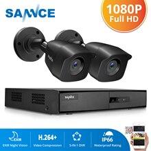 SANNCE 4CH DVR ระบบกล้องวงจรปิด 2PCS/4PCS 2MP IR กลางแจ้ง 1080P HDMI TVI กล้องวงจรปิด DVR 1280TVL ชุดการเฝ้าระวัง