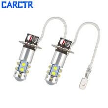 CARCTR 1 пара автомобиля Светодиодный Противотуманные фары гарантия 1 год H3 H1 50 W 6500 K XBD 10 светодиодный высокое Мощность с отверстиями 12 V-24 V DC светодиодный Противотуманные огни 60010