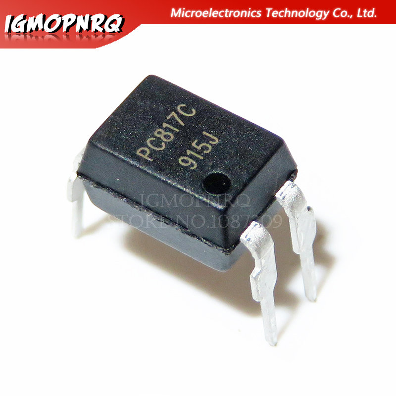100pcs PC817 EL817 817 DIP-4 Photoelectric Coupler 100% New Original Quality Assurance
