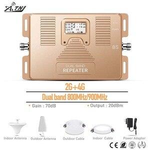 Image 5 - 2G 4G çift bant 800/900MHz mobil sinyal güçlendirici telefon sinyal tekrarlayıcı ev için, ofis kullanımı ile geniş alan sinyal amplifikatörü
