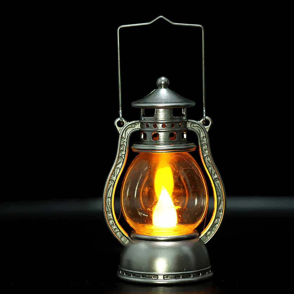 K/ürbis Vintage /Öllampe Eingebaute Knopfbatterie 3 AG13 Easy to use Cherishly Halloween Theme Party Kleine /Öllampe Retro H/ängelampe Laternen Lampe F/ür Drinnen Drau/ßen