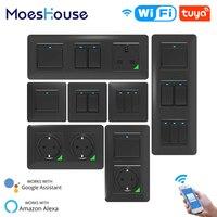 WiFi akıllı işık duvar prizi basma düğmesi akıllı yaşam Tuya kablosuz uzaktan kumanda Alexa Google ev ile çalışmak DE ab İngiltere UN