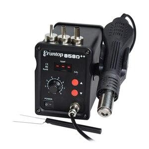 Image 5 - Czarny 700W 858D + + stacja lutownicza ESD LED cyfrowy SMD lutowane Blowser gorąca wiatrówka ulepszona z 858D 858D +