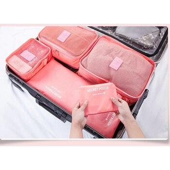 Hot Sale 6 Pieces Travel Organizer Storage Bag Set Clothes Bags Suitcase 1