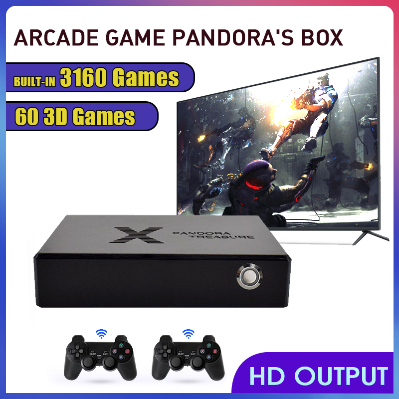 Classic Nostalgic Mini Arcade Video Game Console Pandora Box with 3160 Games Quick Search Pause Games HD/VGA Out Multiplayers