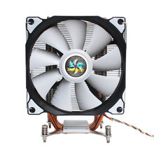 Lanshuo CPU Silent Kipas Tunggal 4 Pipa Panas 3 Kawat CPU Cooler Fan untuk Intel LGA 2011 Mandiri backplane Papan Utama(China)