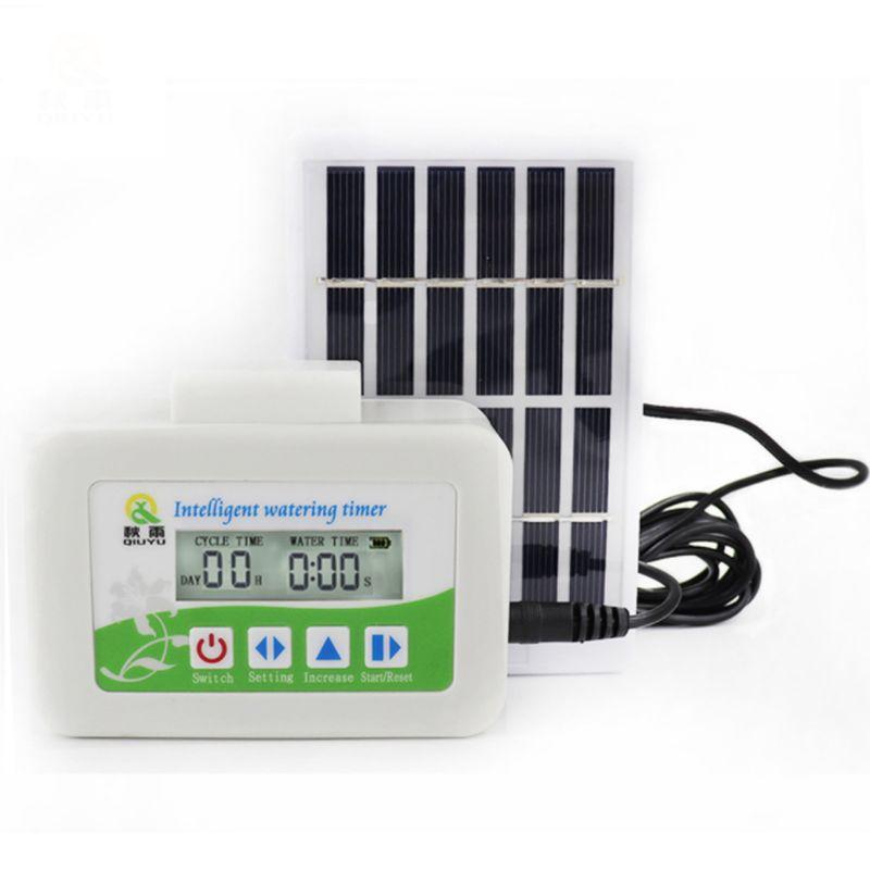 Intelligent Solar Charging Watering Timer Solenoid Valve Garden Automatic Plant 425D
