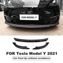 Car Front Face Safe Beauty Anti-Collision Spoiler Modification Decoration Accessories For Tesla Model Y 2020-2021