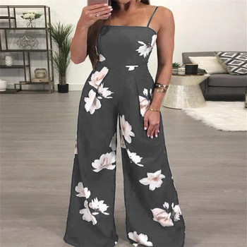 New Womens Summer Playsuit Romper Jumpsuit Ladies Sleeveless Casual Floral Print Sleeveless Fashion Jumpsuit 2019 Hot Plus Size 3