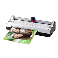 Hot & Cold A4 Laminator with Rotary Trimmer & Corner Rounder 4 in 1 Photo/Doucment/Card Laminator Machine Support A4 Paper Photo