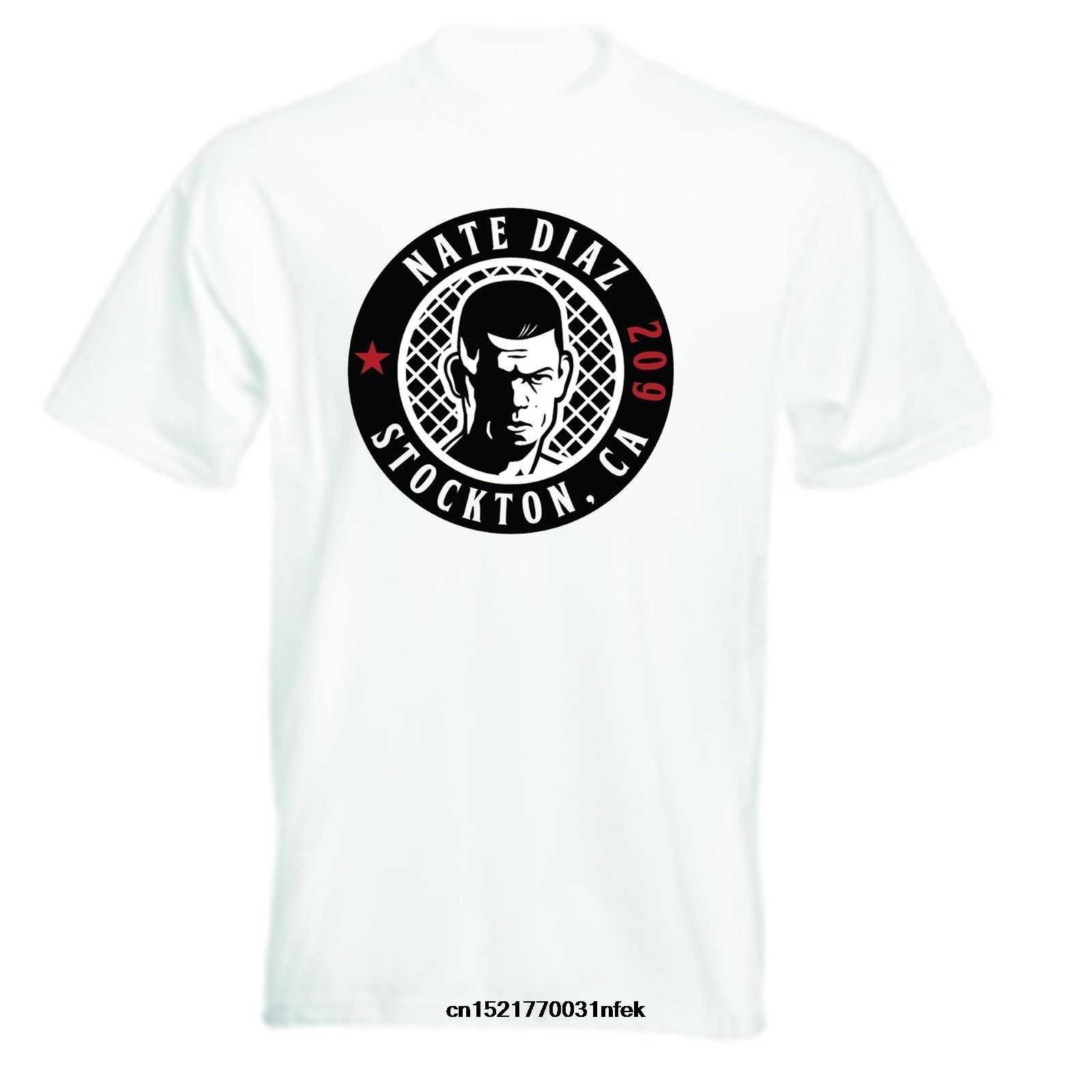 Los hombres T camisa Nate Diaz 209 inspirado T camisa s cuello redondo de manga corta Casual camiseta divertida novedad camiseta Mujer