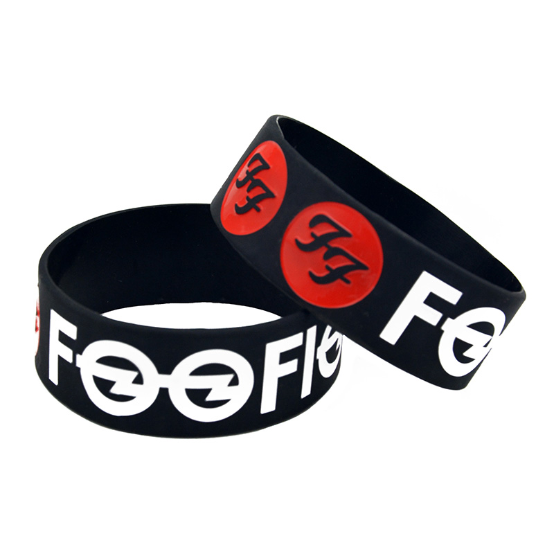 1PC Rock Band Foo Fighters Silicone Bracelet for Music Concert image