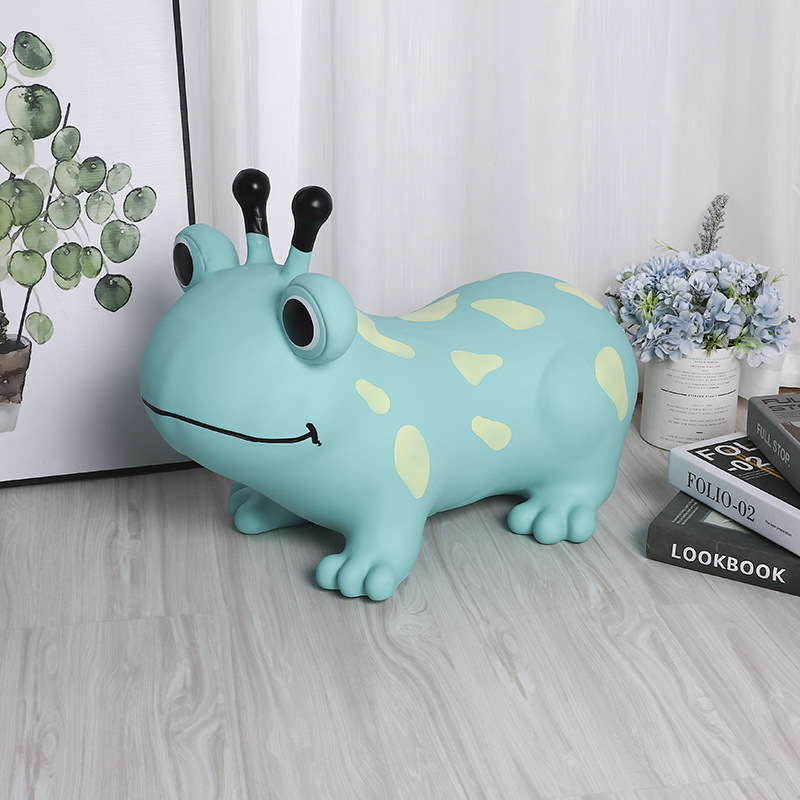 Children Inflatable Frog Sports Toys Ride on Animal Jumping Horse Bouncy Toys for Kids Baby Thicken PVC 55*25*50cm