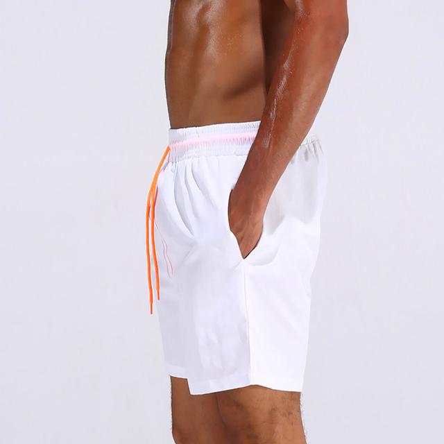 Summer beach swimsuit men's quick-drying swimwear men comfortable breathable swimwear beach shorts sexy solid male swimsuit