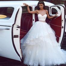 Лидер продаж свадебное платье с аппликацией кружевной многослойной