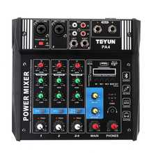 Professional 4 Channel Karaoke Mixer DJ Equipment 100W Audio bluetooth Console Mixing Live Amplifier for DJ KTV Stage Party(China)