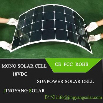 Jingyang wysokiej jakości panele słoneczne 100 watt sunpower panel słoneczny elastyczne panele słoneczne 100W rollable panel solar cena na sprzedaż tanie i dobre opinie ALLPOWERS 1050mm*540mm*2 5mm sp 32-100 Monokryształów krzemu sunpower solar panel 12V 18V PV PANEL