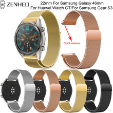 22mm Quick release bracelet For Huawel Watch GT smart watch milanese replace band Samsung Galaxy 46mm/Gear S3 strap