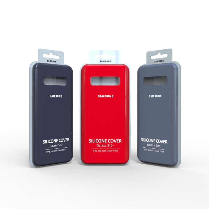 オリジナルサムスンギャラクシー S10 プラス液状シリコーンケース絹のようなソフトタッチのための銀河 S10 lite S10E S10 + S10plus S10 e