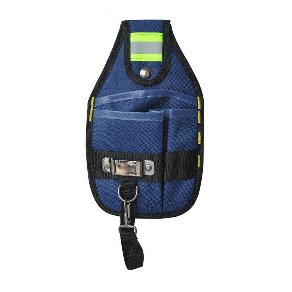 Oxford Cloth High Capacity Wear Resistant Maintenance Protable Oganizer Electrician Tool Bag Waist Pocket Belt Reflective Strip