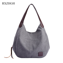 Womens Canvas Hand bags Fashion Designers Handbags Women High capacity Shoulder Bags Female Top-handle for women 2019 RXZHG