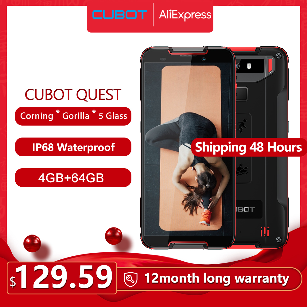 Cubot Quest Cellphone IP68 Sports Rugged Phone Helio P22 Octa-Core 5.5