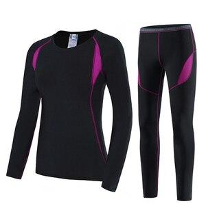 Image 1 - Iki parçalı Set kadın sıcak kış termal peluş kadife termal giyim sıcak kuru teknoloji eşleşen setleri Conjuntos De Mujer