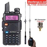 Baofeng UV 5R Walkie Talkie+NL770S Antenna for Mobile Car Radios Hunting Station Max 150w UV5R UHF VHF Transceiver CB Ham Radio