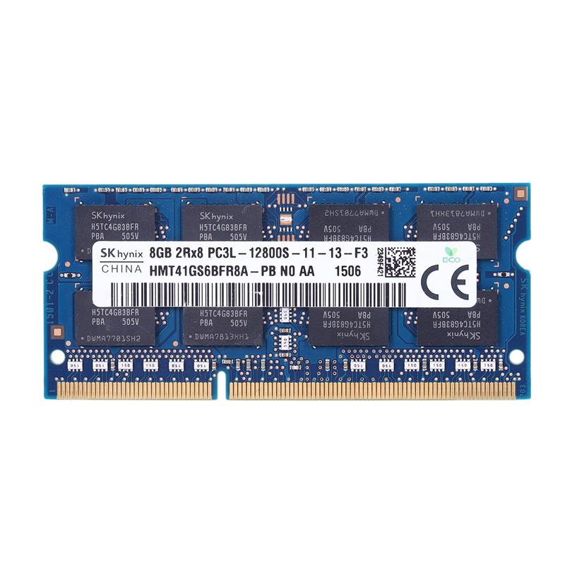 DDR3 <font><b>8GB</b></font> 12800 1600MHz 1.35V <font><b>RAM</b></font> Memory for Laptop <font><b>Notebook</b></font> 204-PIN SODIMM Low Voltage Non-ECC Dual Channel image
