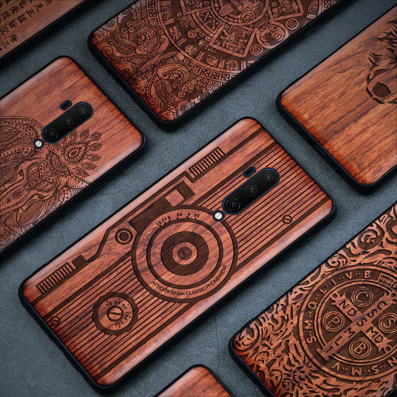 Wooden Phone <font><b>Case</b></font> For <font><b>Oneplus</b></font> 7T Pro <font><b>Case</b></font> Luxury Wood 7 Pro Back Cover TPU <font><b>Bumper</b></font> Coque For <font><b>Oneplus</b></font> 5T 6 <font><b>6T</b></font> 7 Pro 7T Pro Funda image