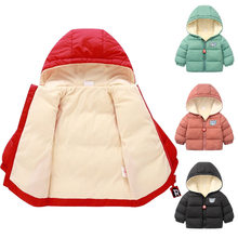Baby Girls Jacket boys Autumn Winter Jacket For Girls Christmas Coat Kids Hooded Outerwear Children Clothes Infant Girls Coat(China)