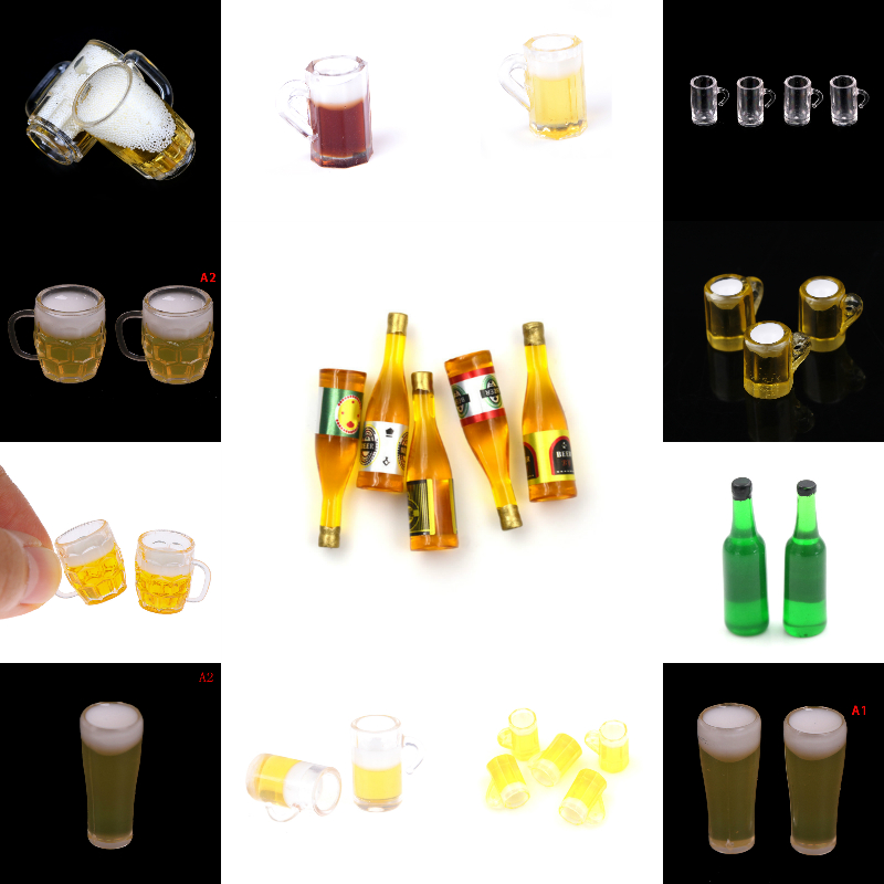 1:12 Scale Toys For Dollhouse 1/12 Miniature Scene Model Scale Dollhouse Accessories Mini Beer Cup Mug Kid Toy