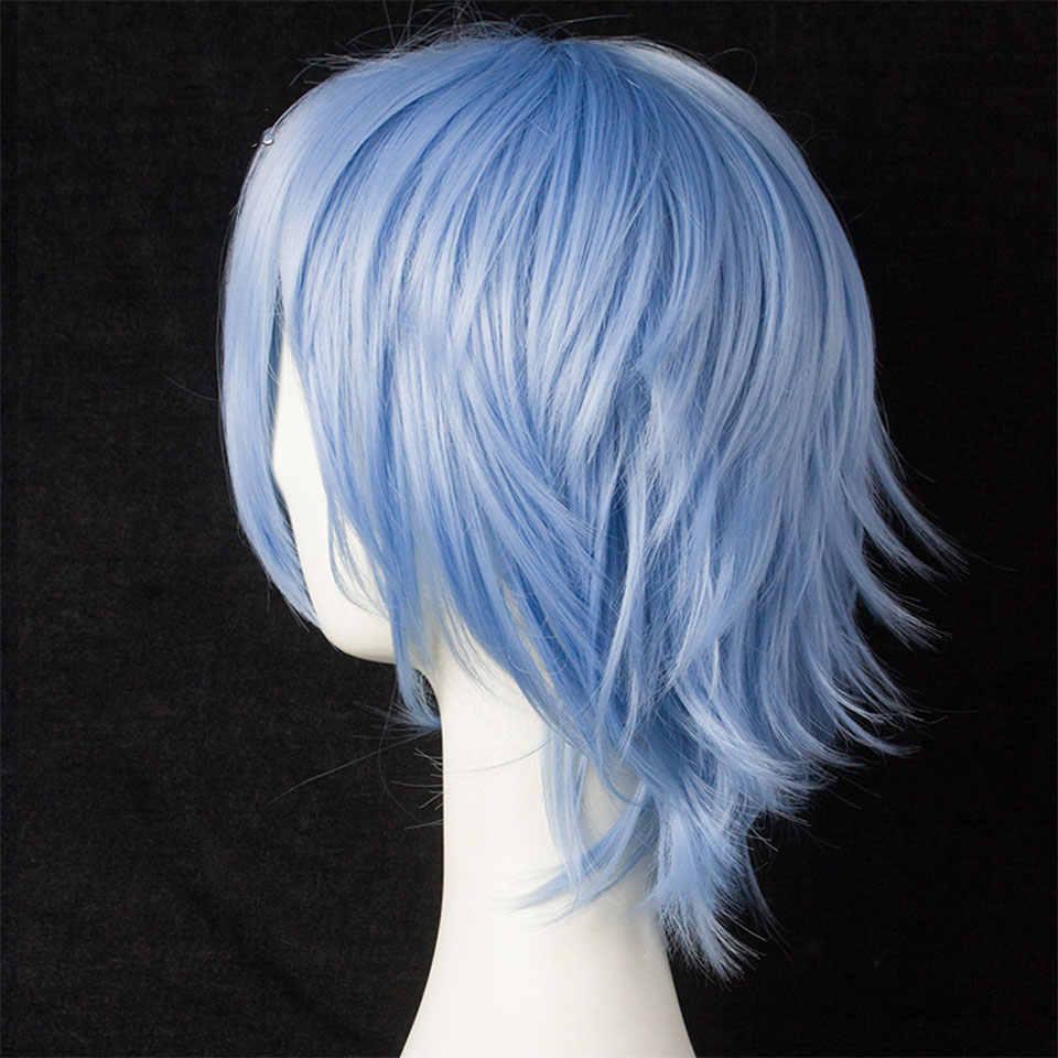 Mumupi Cosplay Korte Bob Pruik Nep Haar Lolita Haar Voor Vrouwen Blauw Geel Synthetische Blond Puple Azure Rood Zwart Wit rood