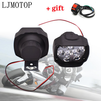 6/9 LED Motorcycle Headlight Fog Driving Lights Front Head Auxiliary Lamp For Honda CB 1000R R1000RR R1100XX ST1300 PCX 125 150 image