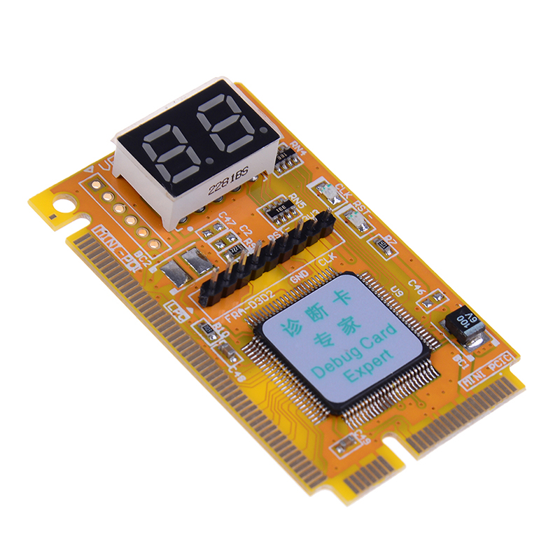 Mini PCI-E LPC PC Analyzer Tester POST Card Test For Notebook Laptop Hexadecimal Character Display 1