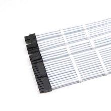 Kit de cabo de extensão básico placa mãe atx 24pin/4 + 4pin, cabo extensor de alimentação pci e 6 + 2pin/6pin, 2 peças de cabos.