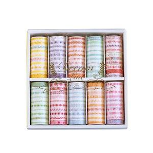 Image 5 - 100 Pcs/set Traum Linie Serie Dekorative Washi Tape Japanischen Papier Aufkleber Scrapbooking Vintage Klebstoff Washitape Stationäre
