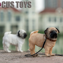 цена на 1/6 In stock Pet Toys Pekingese dog Pug dog FOCUS TOYS F03 With Collar Anime Statue for 12 inches Action Figure fans Collections