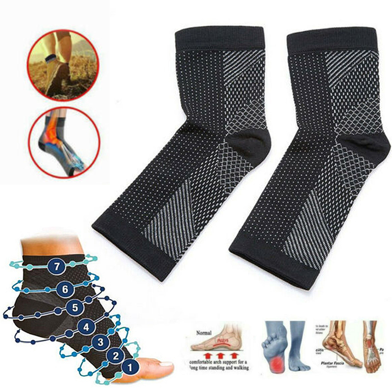 Support Compression Sock Yoga Ankle Sports Socks Fitness Sprain Protection Tools Quality Vita Wear Copper Infused Magnetic Foot