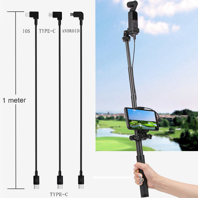 Mavic Mini 2 OSMO Pocket 2 Data Line Conversion Wire Type C Micro USB IOS Selfie Connect Cable For DJI Mavic Air 2 Cable 30cm 1m
