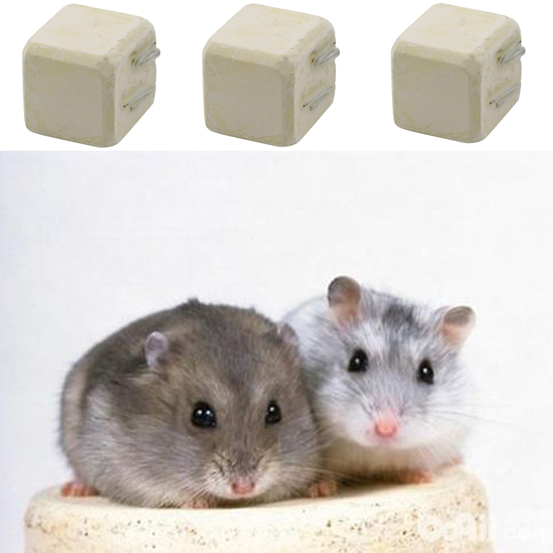 Professional Mineral Stone Calcium Chew Toy Rat Chinchilla Hamster Rabbit Teeth Grinder Hamster