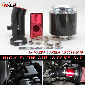 R-EP High Flow Cold Air Intake Pipe for Mazda 3 Axela 1500cc with Air Filter Replacement High Power RP-D002 latest high flow air intake pipe kit with air intake filter for honda fit feng fan 1 3 1 5l civic replacement aluminum pipe